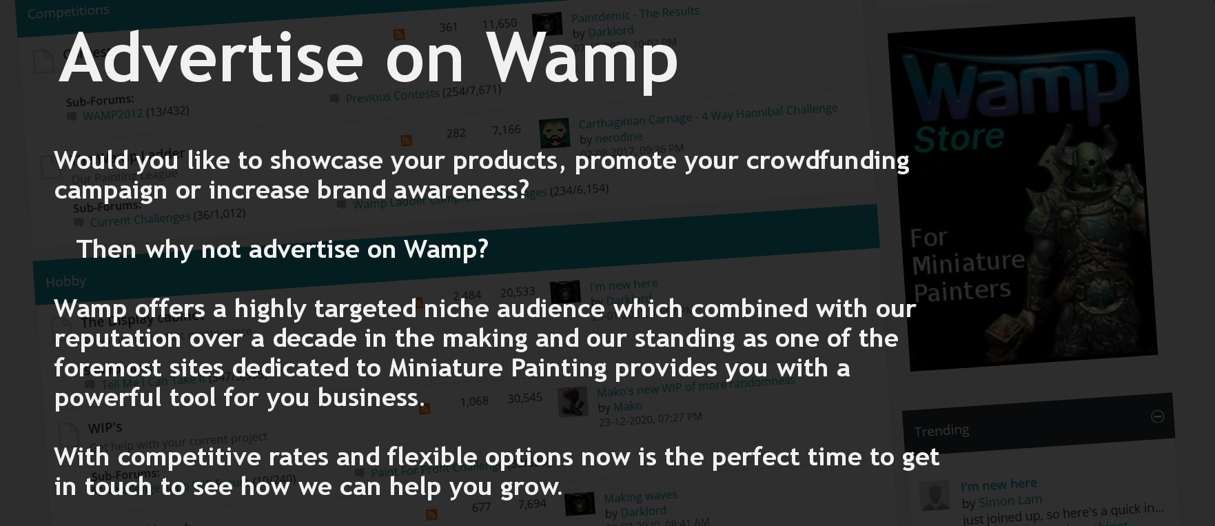 Advertise with Wamp